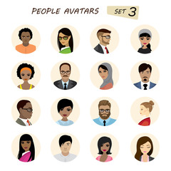 People avatars collection,busines man and business woman differe
