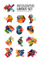 Abstract paper geometric infographic templates