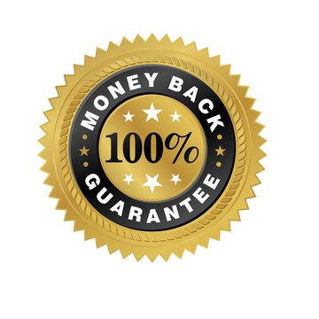 100% Money Back Guarantee Gold Seal