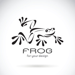 Vector image of a frog design on white background, Frog Logo. Wi