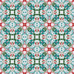 Printed kitchen splashbacks Moroccan Tiles Pattern in Christmas style