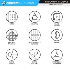 Concept Line Icons Set 14 Math