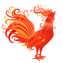 Fire Rooster Symbol of 2017 New Year