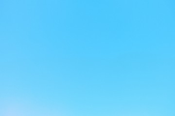Beautiful clear blue sky   in  vintage tone