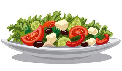 fresh greek salad