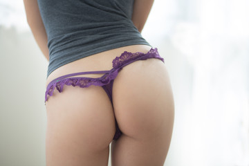 Butt pretty purple G-string