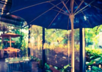 Fotomurales - blur image of coffee shop.