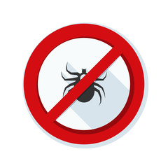 Ticks acarine free safety sign
