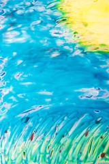 Ein mit der Encaustic gemaltes Kunswerk