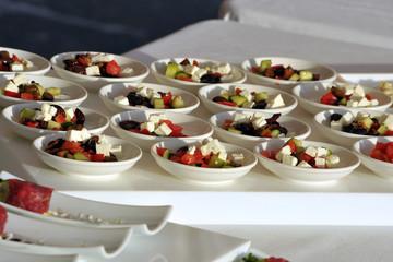 Insalata Greca - mini porzione - mono porzione  - buffet - matrimonio
