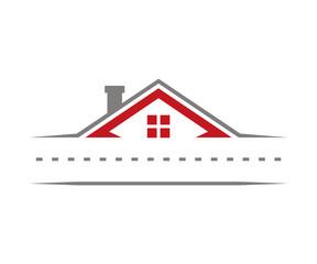 Road Roof Home Real Estate Logo Design