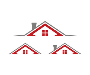 Roof Home Real Estate Logo Design