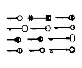 Keys Home Set Vector Pack Icon Logo Design