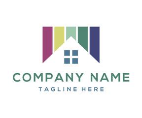 Square Home Colour Windows Classic Icon Logo Design