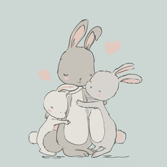 sweet hares - mom and kids