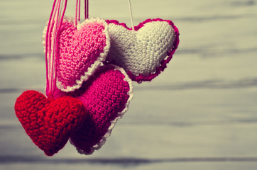 Decorative knitted heart