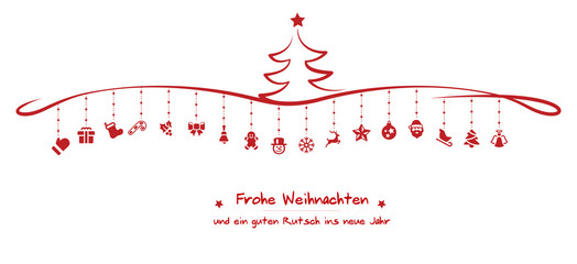 Wall Mural - christmas icons tree frohe weihnachten