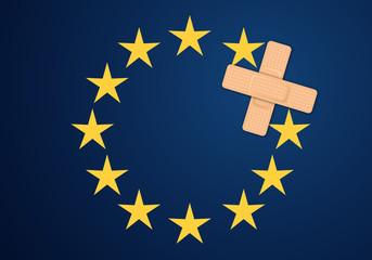 Europe - Drapeau - Sparadrap - Pansement