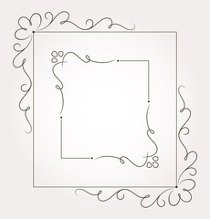 Set of two floral frames and page decoration. Vector illustration