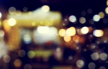 defocused bokeh light, abstract background at night photo