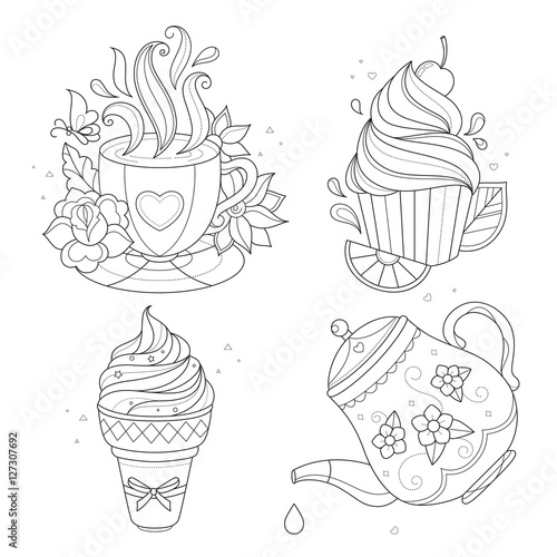 iced teas coloring pages - photo#9