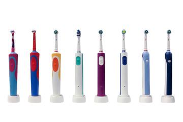 electro toothbrushes isolated on white background