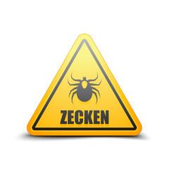 Ticks danger sign (Non-English text - Ticks)
