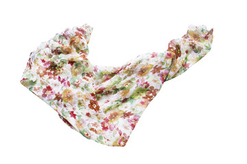 Silk kerchief isolated