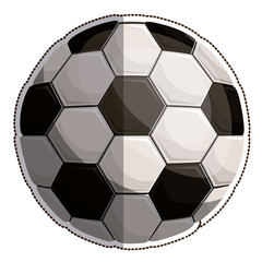 ball of soccer icon. Sport hobby competition and game theme. Isolated design. Vector illustration
