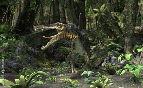3D Rendering Dinosaur Spinosaurus
