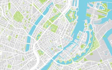 Urban city map of Copenhagen