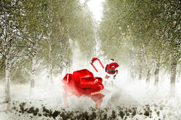 christmas box splash and santa claus