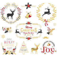 Gold Christmas Wreath Frame Collection