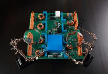 Green printed computer motherboard