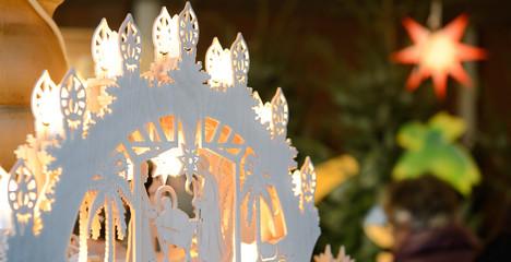 Weihnachten Schwibbogen mit Lichtern