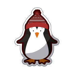 Penguin icon. Christmas season decoration and celebration theme. Isolated design. Vector illustration