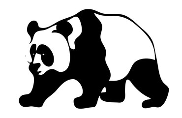 Panda logo. Isolated on white background