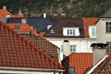 Tiled roofs of Bergen