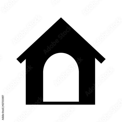 House Mascot Isolated Icon Vector Illustration Design