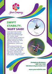 Hummingbird Brochure Layout Template