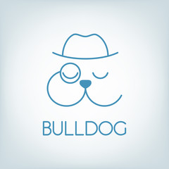 Vector bulldog logo.