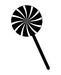 swirl striped lollipop peppermint vector symbol icon design.