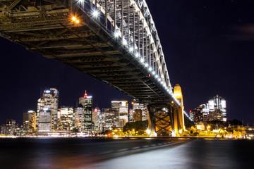 Long-exposure of Sydney, Australia, Skyline at Night