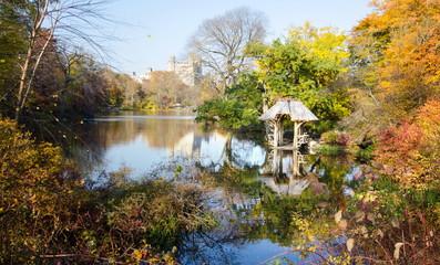 Central park autumn scene, New York