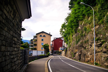 Street in Lugano city
