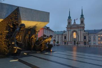 Warszawa - Pomnik Powstania Warszawskiego 1944 i Katedra Polowa Wojska Polskiego