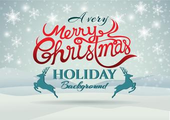 Christmas vector greeting card design for holiday season