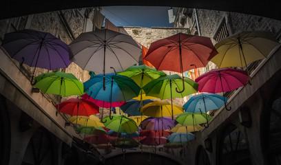 Split Colorful Umbrellas II