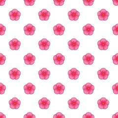 The Rose of Sharon pattern. Cartoon illustration of the Rose of Sharon vector pattern for web