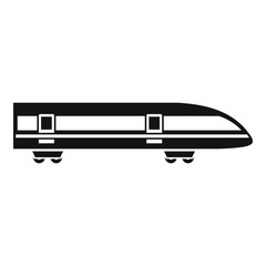 Modern high speed train icon. Simple illustration of high speed train vector icon for web design